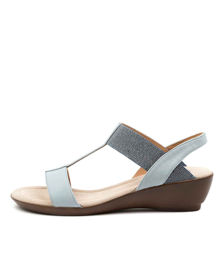 Buy Supersoft Peaches Su Blue Blue & Silver Heeled Sandals online with free shipping