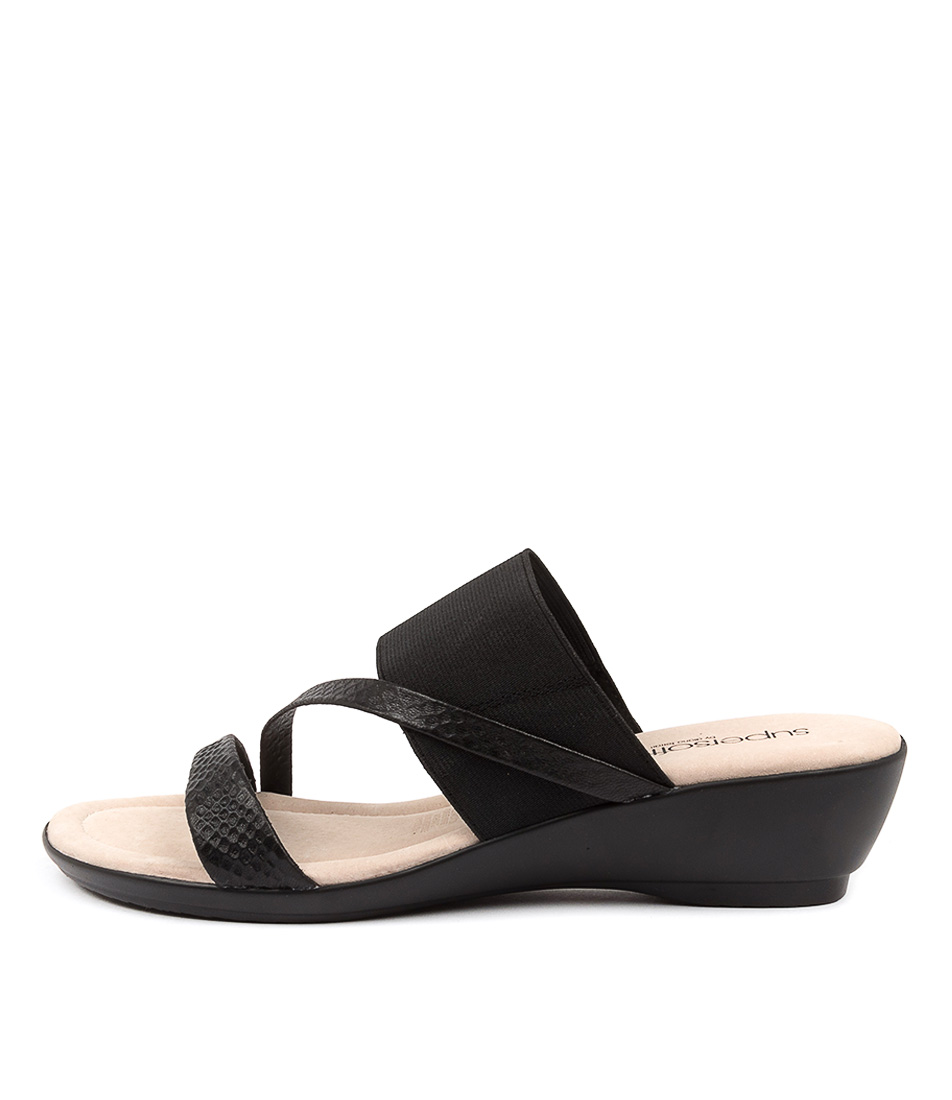 Buy Supersoft Paralee Su Black Heeled Sandals online with free shipping