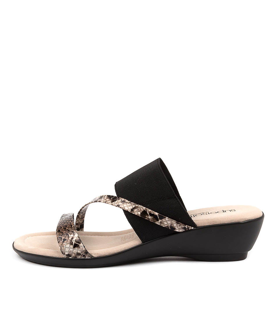 Buy Supersoft Paralee Su Brown Multi Black Heeled Sandals online with free shipping