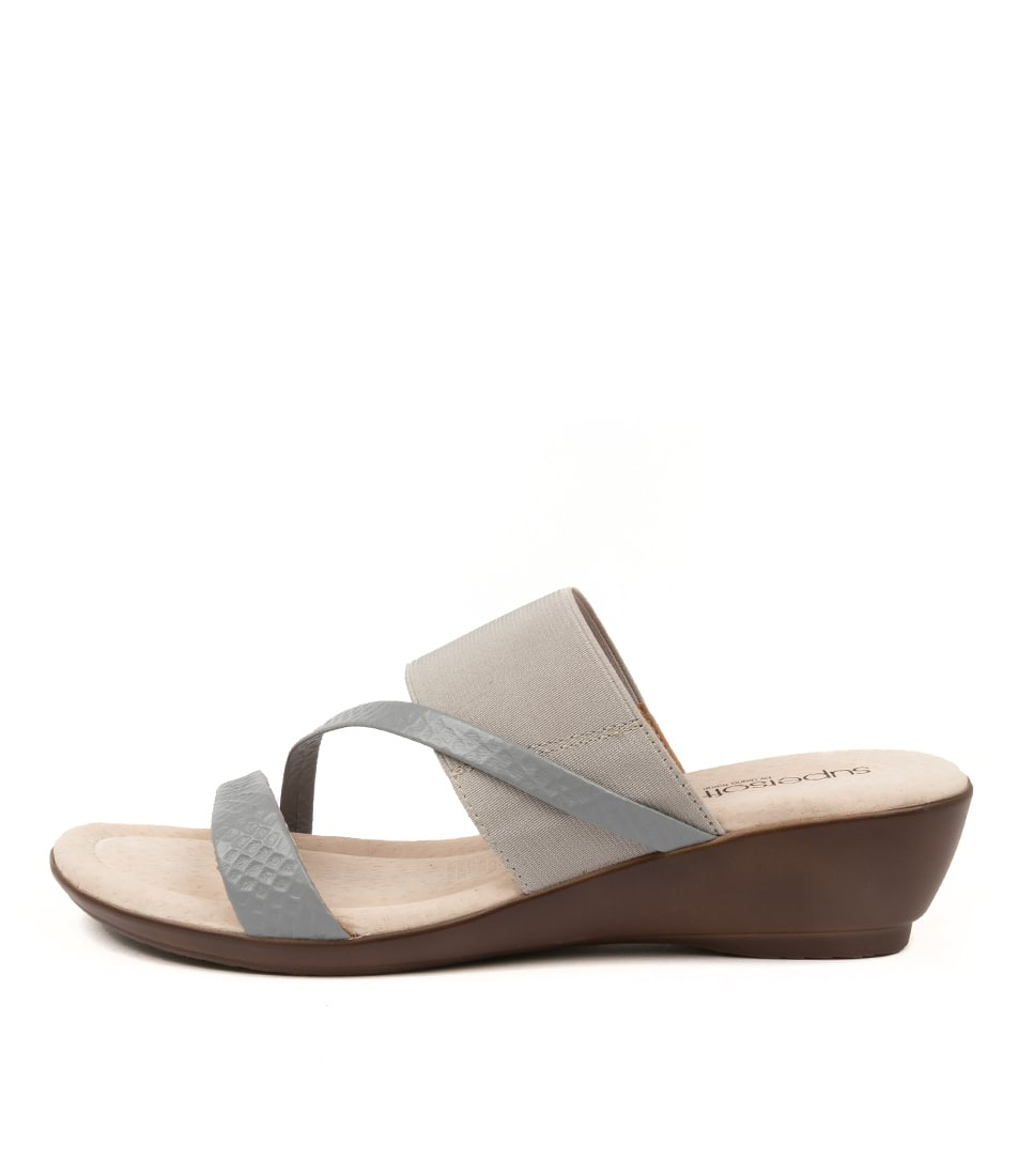 Buy Supersoft Paralee Su Grey Grey Heeled Sandals online with free shipping