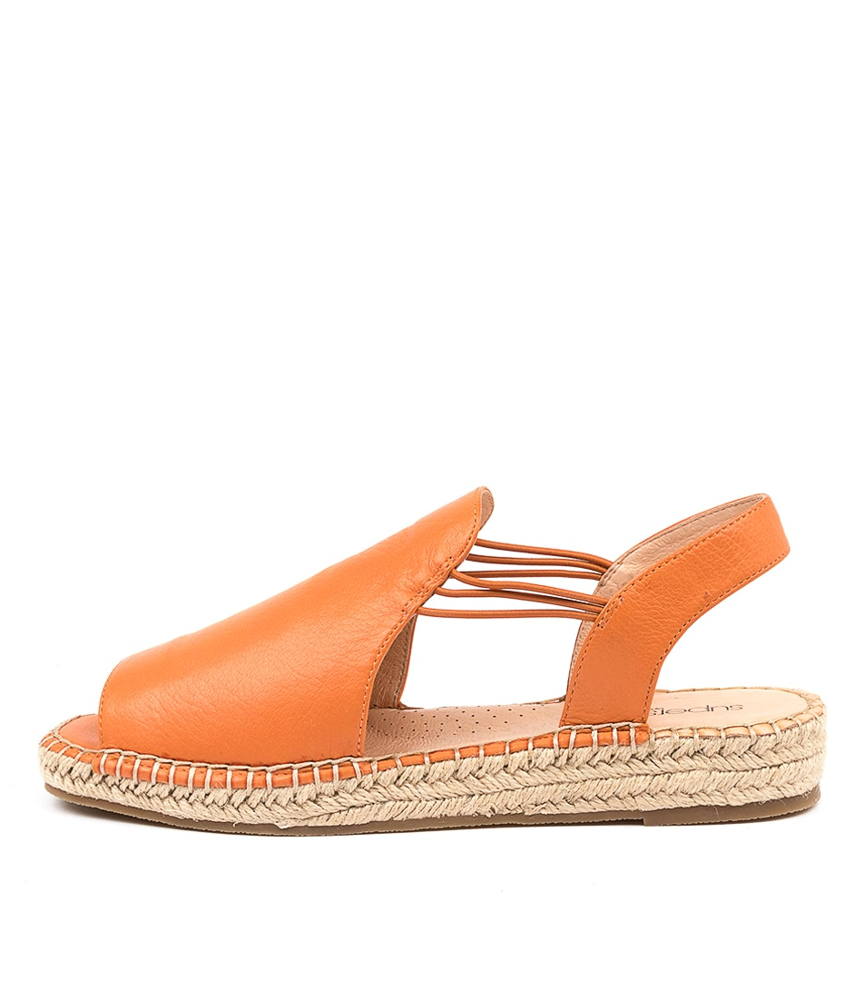 Buy Supersoft Pina Su Bright Orange Flat Sandals online with free shipping