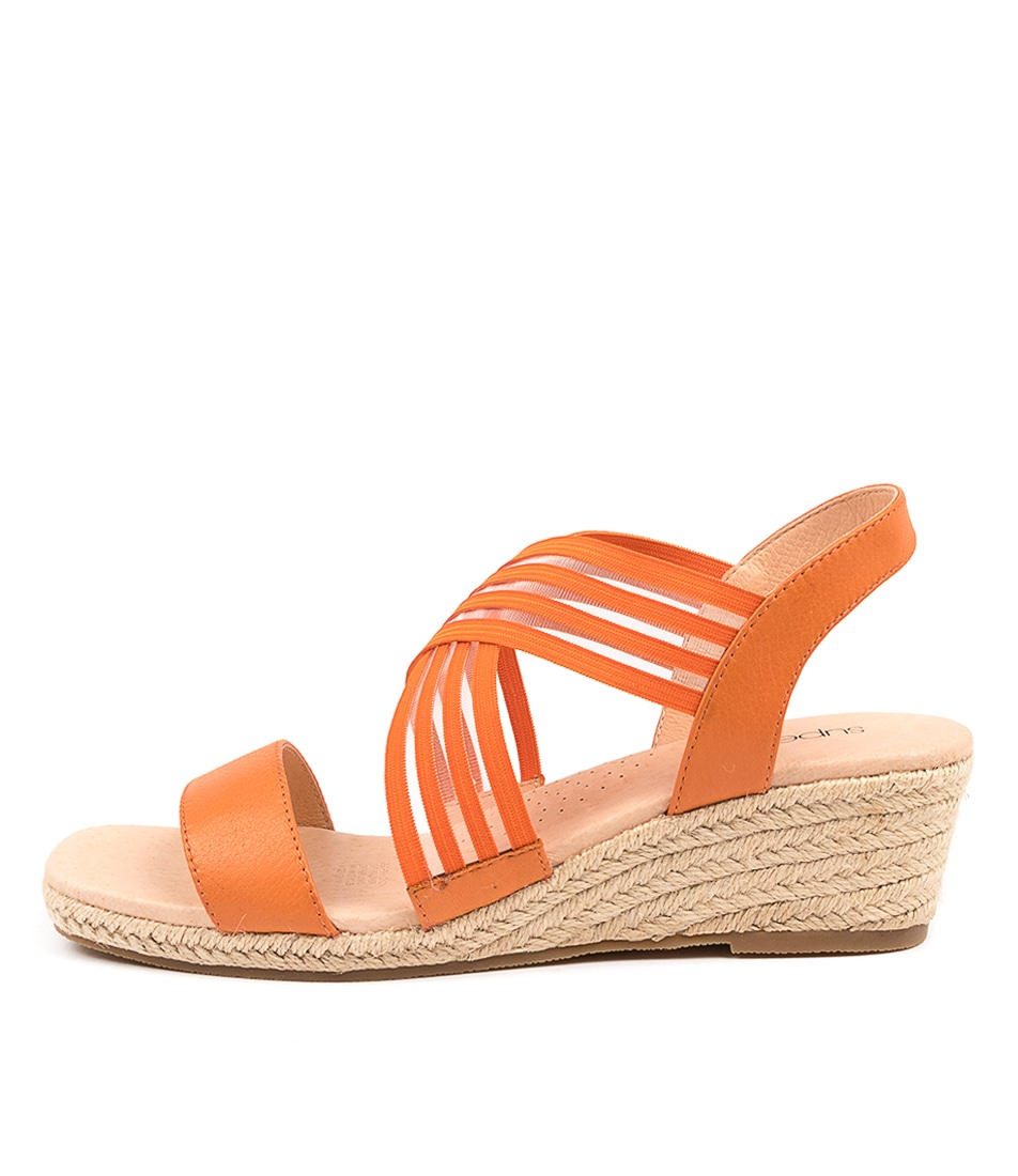 Buy Supersoft Zola Su Bright Orange Heeled Sandals online with free shipping