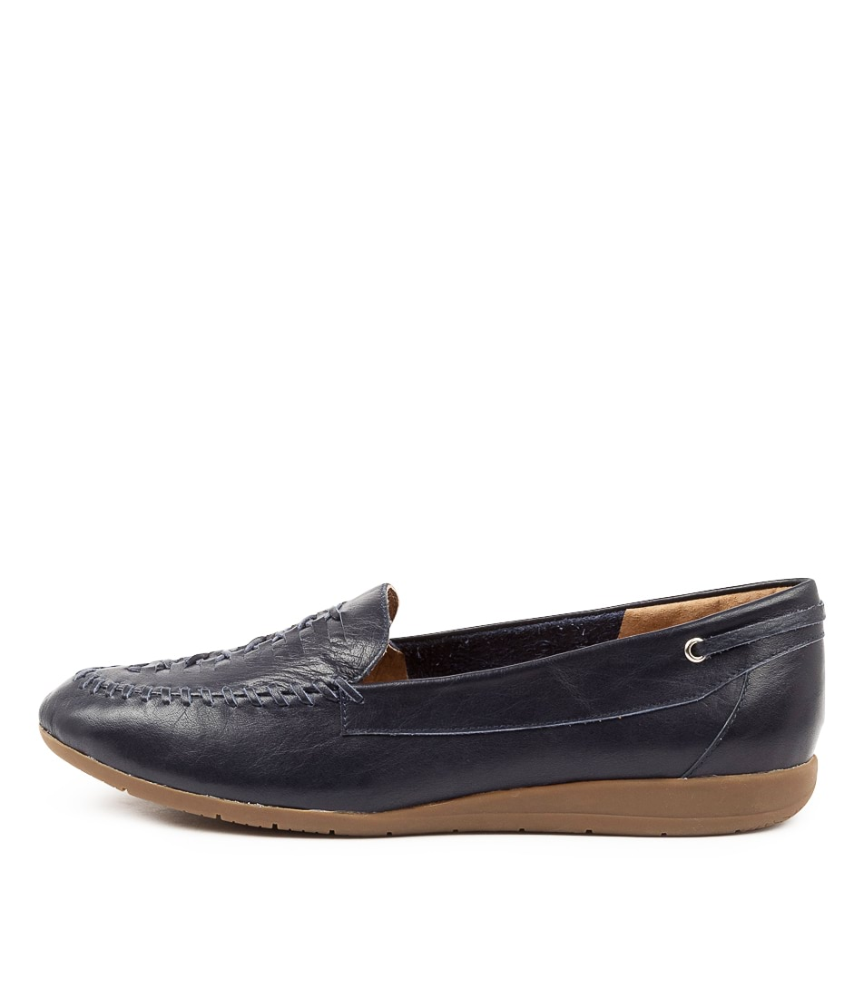 Buy Supersoft Fadila Su Navy Flats online with free shipping
