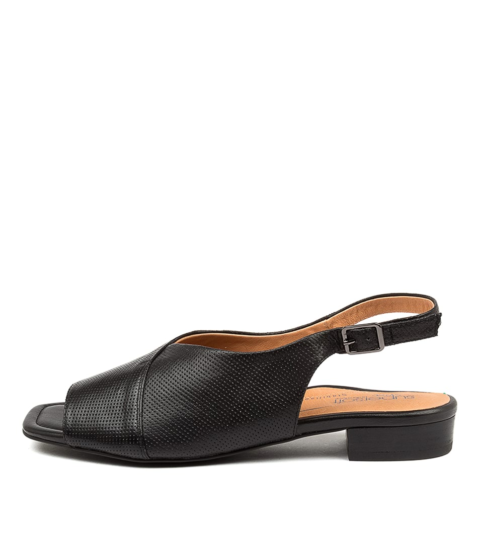 Buy Supersoft Irmina Su Black Flat Sandals online with free shipping
