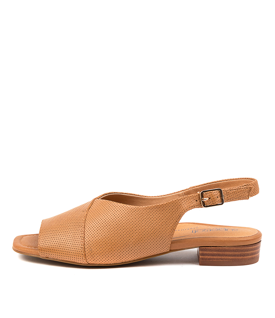 Buy Supersoft Irmina Su Tan Flat Sandals online with free shipping