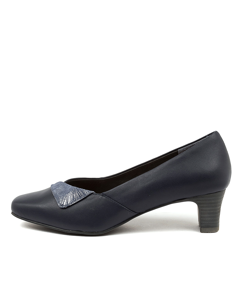 Buy Supersoft Marilee Su Navy Navy & Silver High Heels online with free shipping
