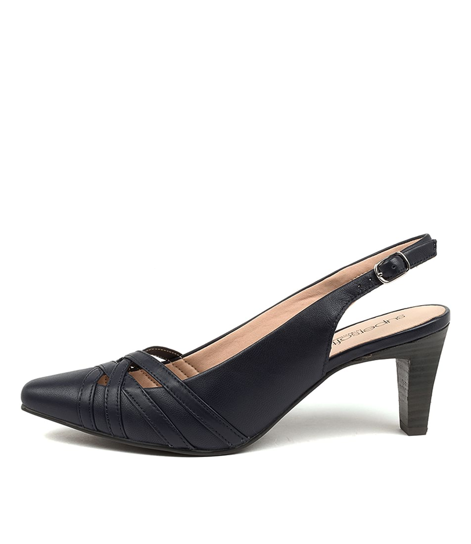 Buy Supersoft Mitza Su Navy High Heels online with free shipping