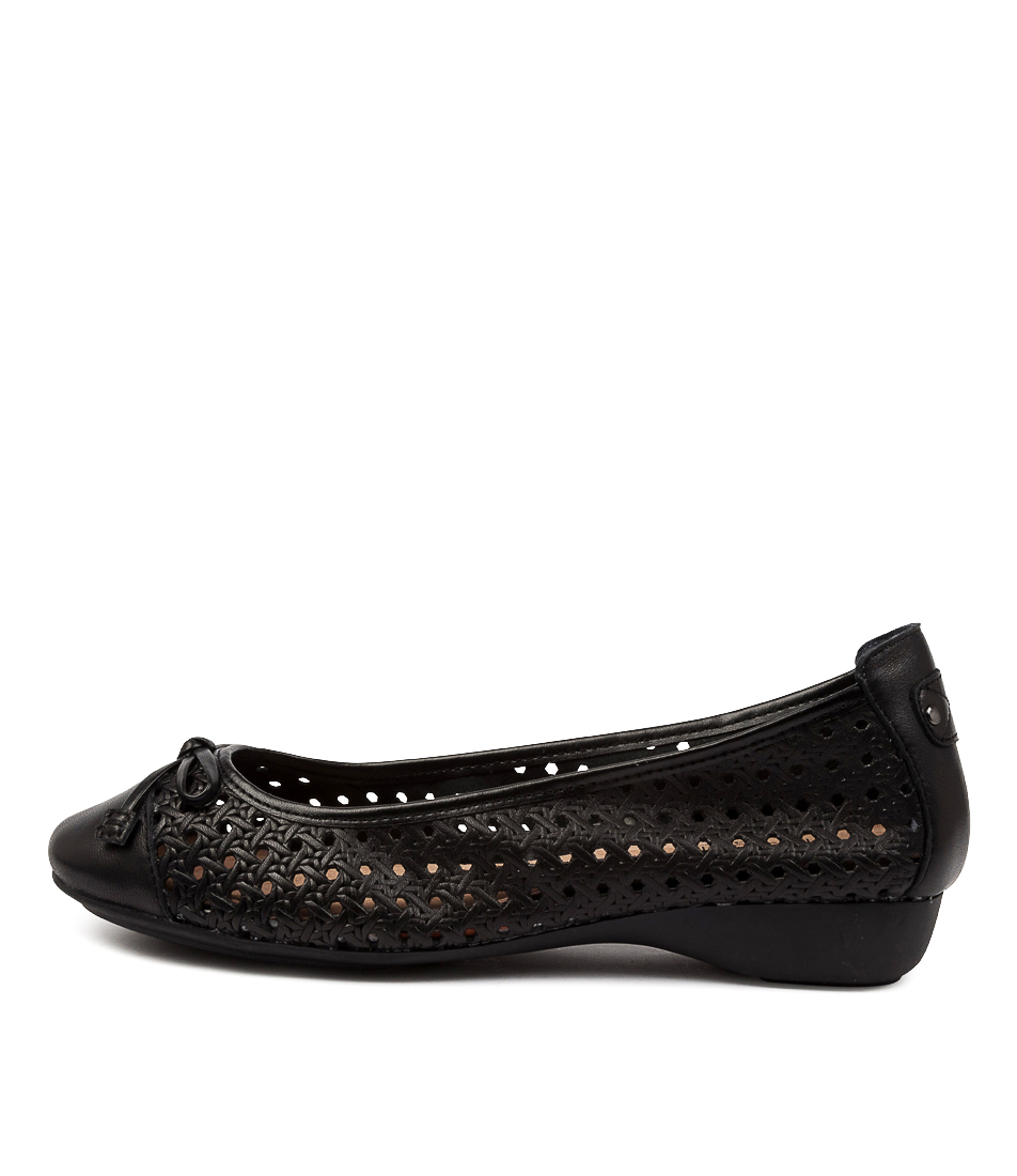 Buy Supersoft Elfrida Su Black Flats online with free shipping