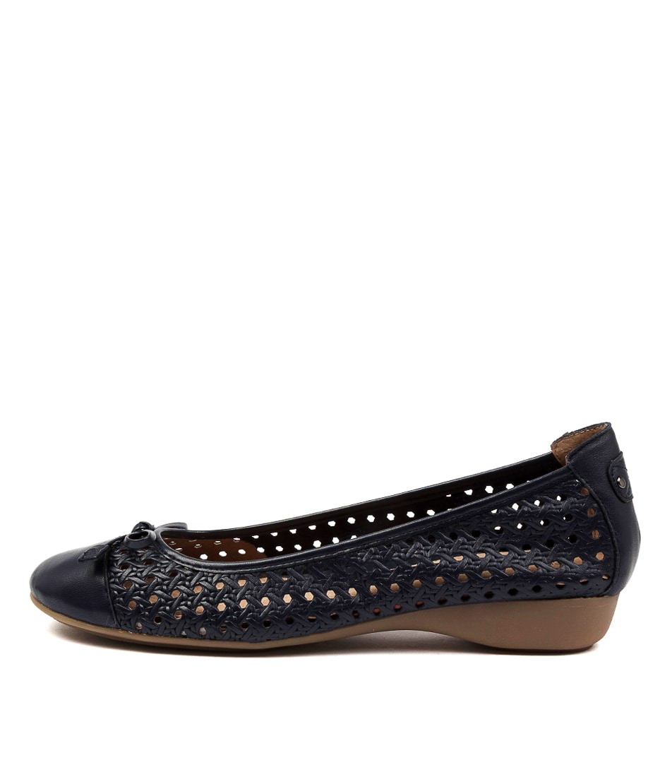 Buy Supersoft Elfrida Su Navy Flats online with free shipping