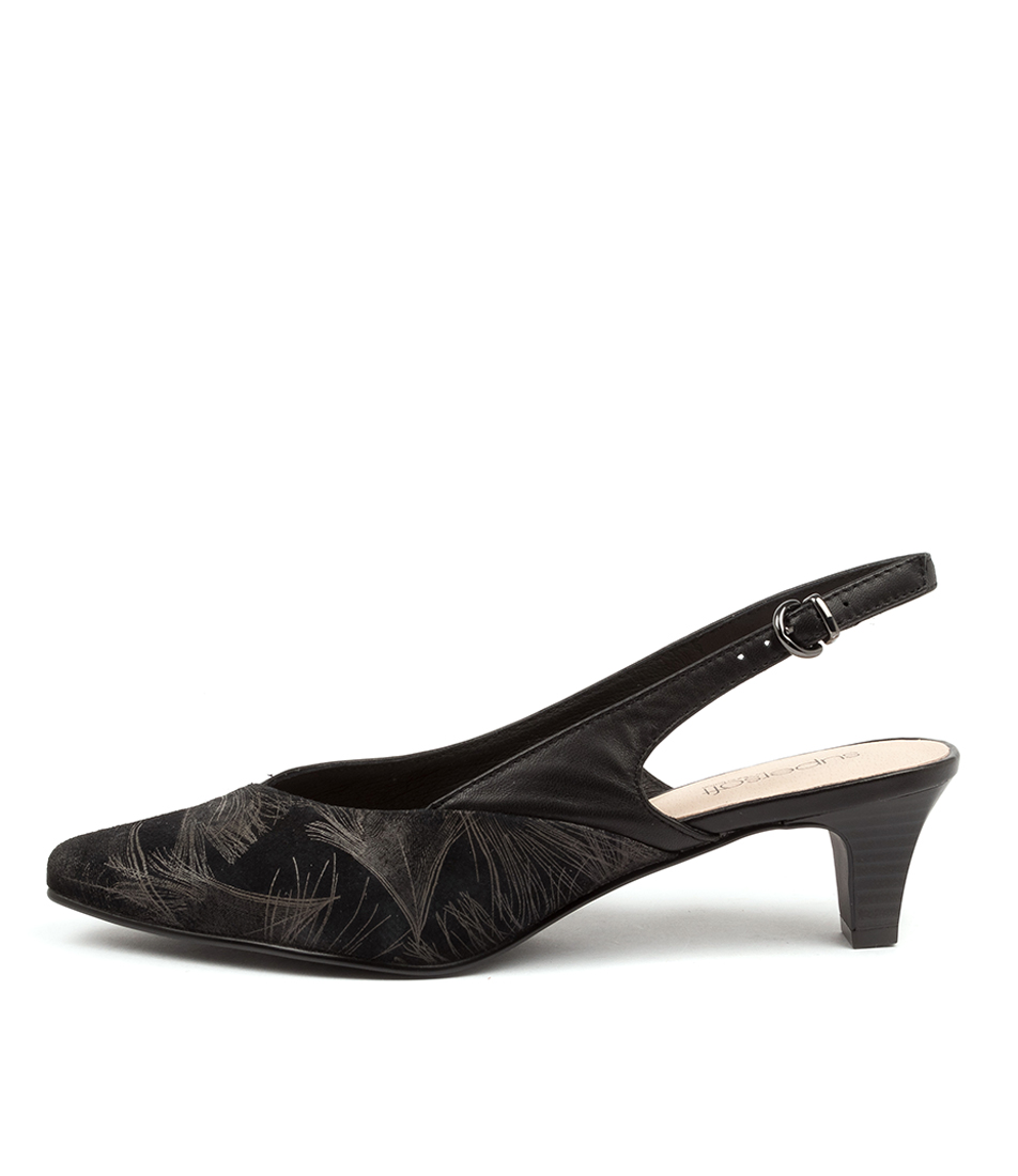 Buy Supersoft Lemnos Su Black & Bronze Bl High Heels online with free shipping