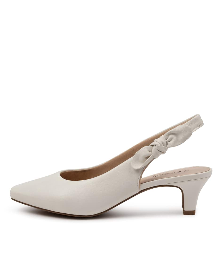 Buy Supersoft Lilybeth Su White High Heels online with free shipping