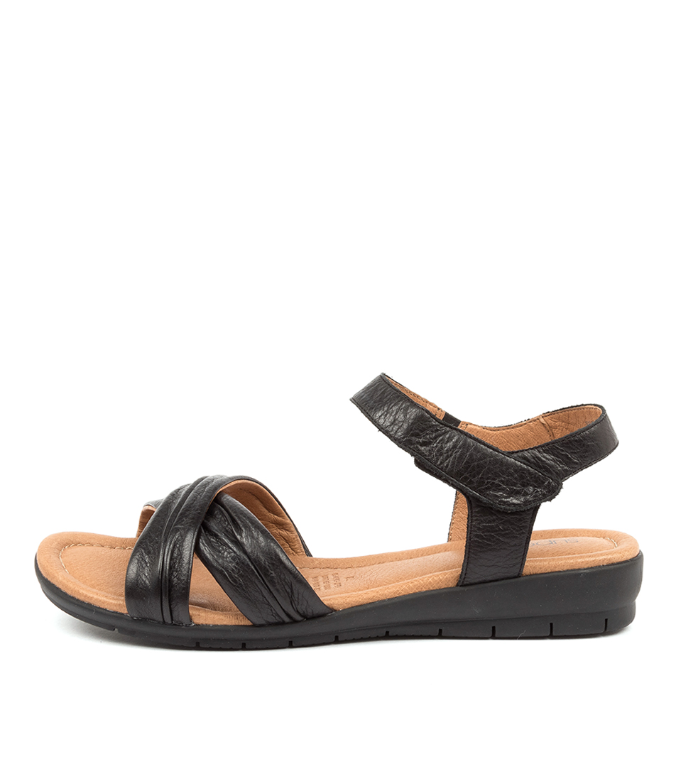 Buy Supersoft Freedom Su Black Flat Sandals online with free shipping
