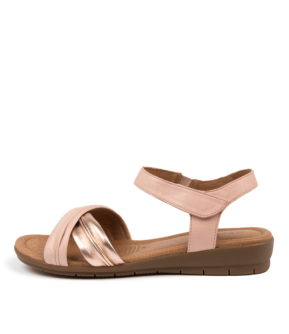 Buy Supersoft Freedom Su Blush Rose Gold Flat Sandals online with free shipping