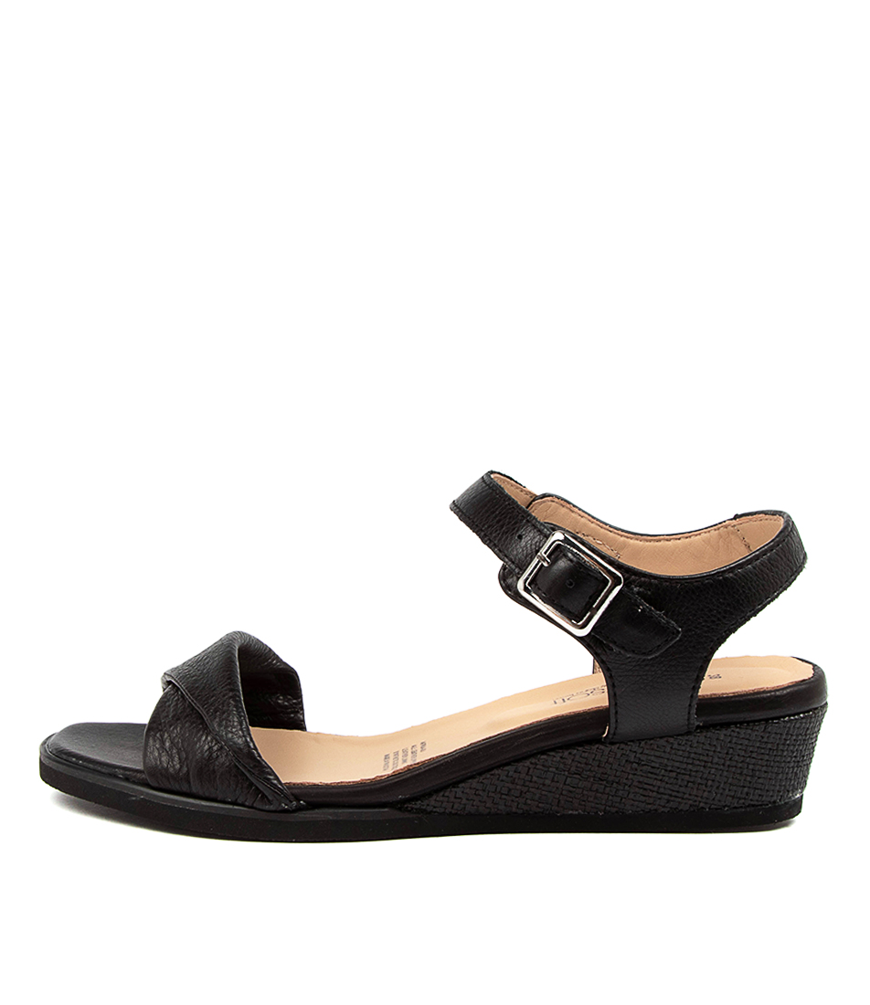 Buy Supersoft Afria Su Black Black Sole Heeled Sandals online with free shipping