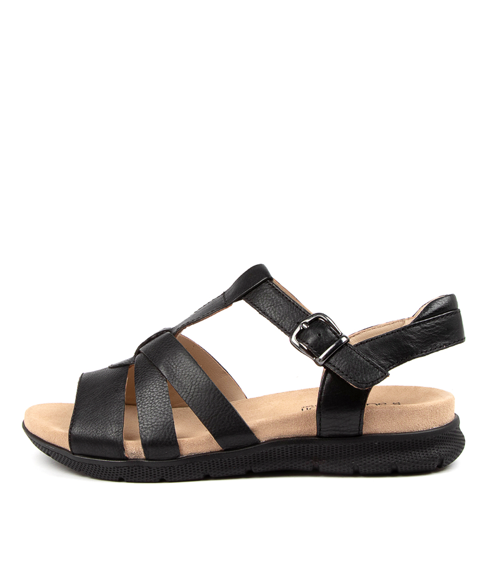 Buy Supersoft Jacynta Su Black Black Sole Flat Sandals online with free shipping