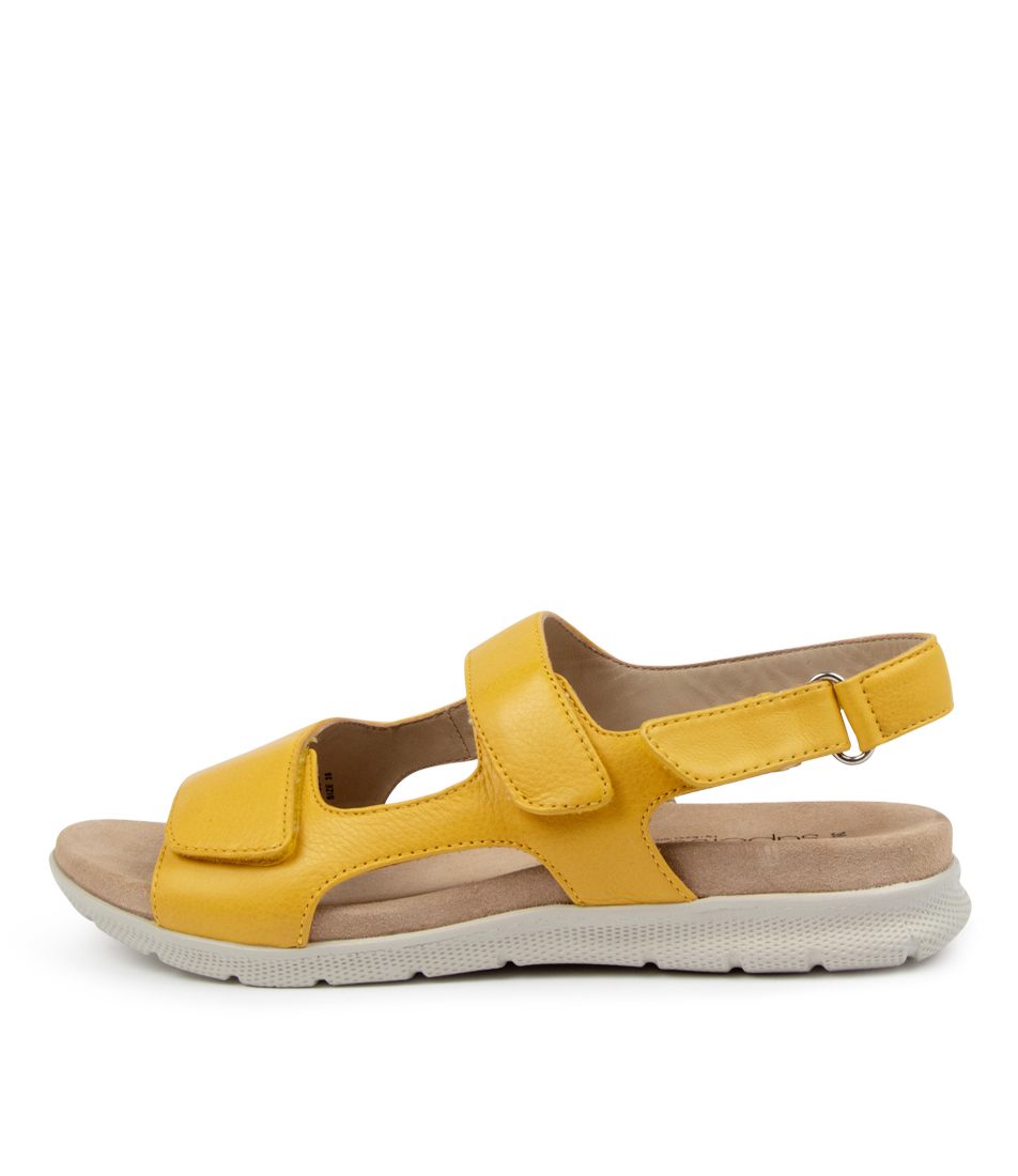 Buy Supersoft Julien Su Yellow Off White Sole Flat Sandals online with free shipping