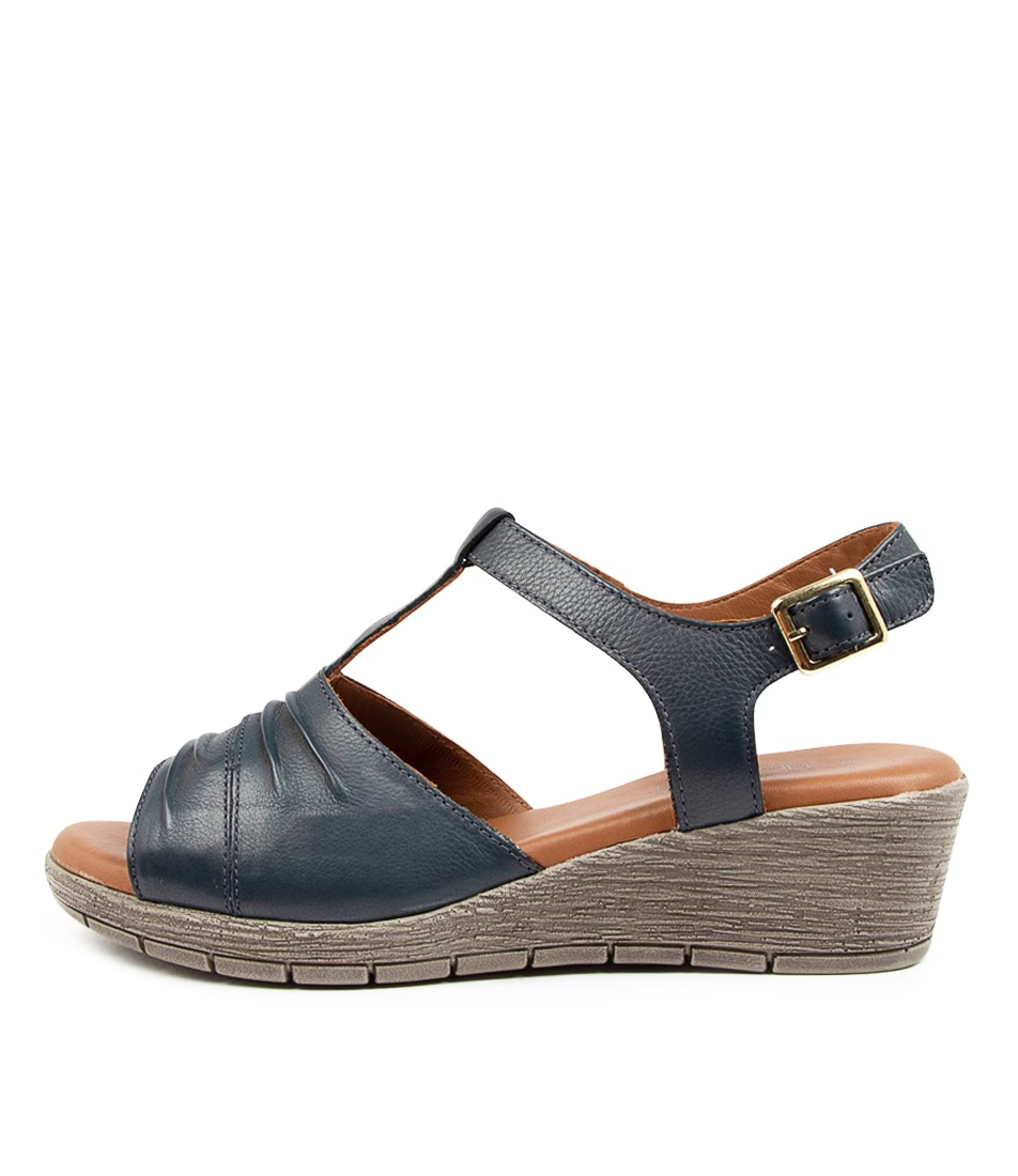 Buy Supersoft Merella Su Navy Charcoal Sole Heeled Sandals online with free shipping