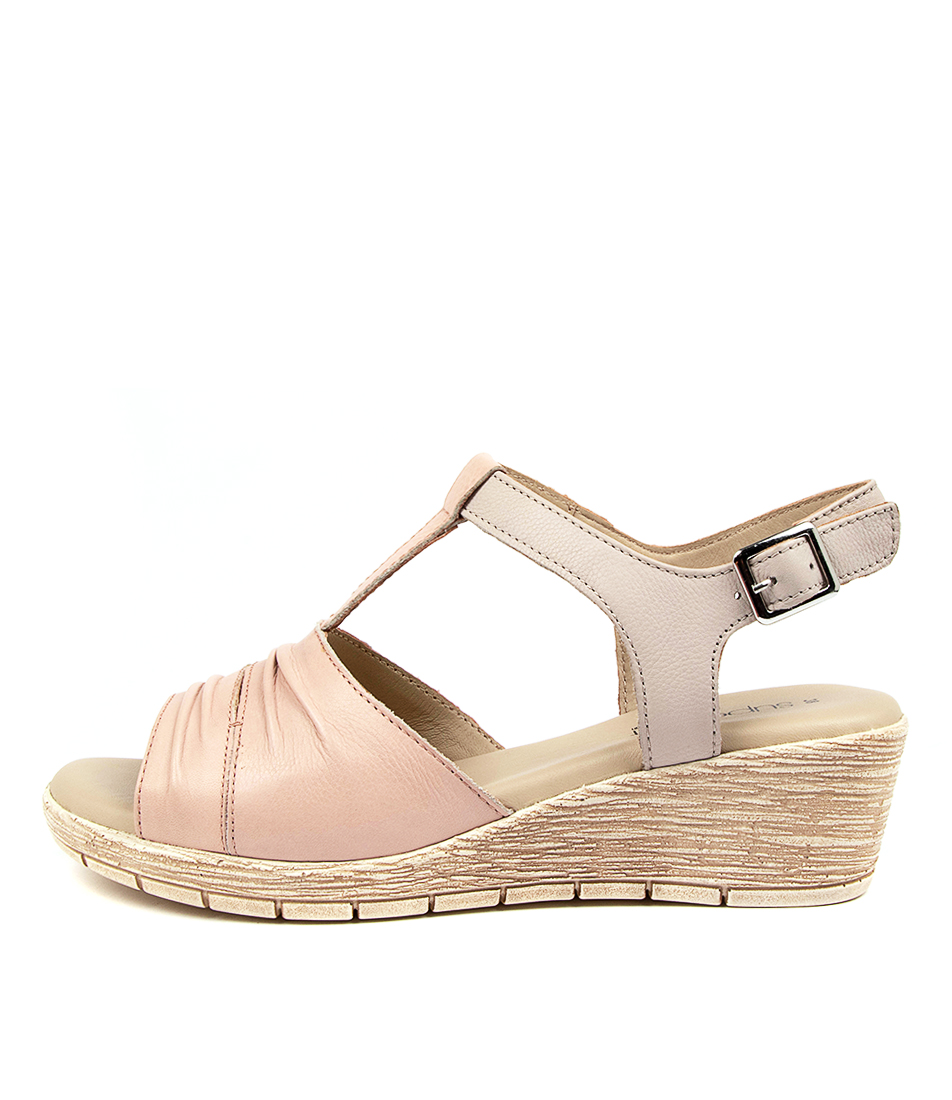 Buy Supersoft Merella Su Blush Lt Grey Heeled Sandals online with free shipping