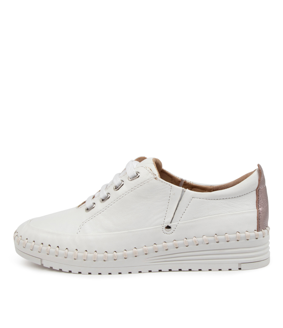 Buy Supersoft Thelie Su White Rose Gold Sneakers online with free shipping