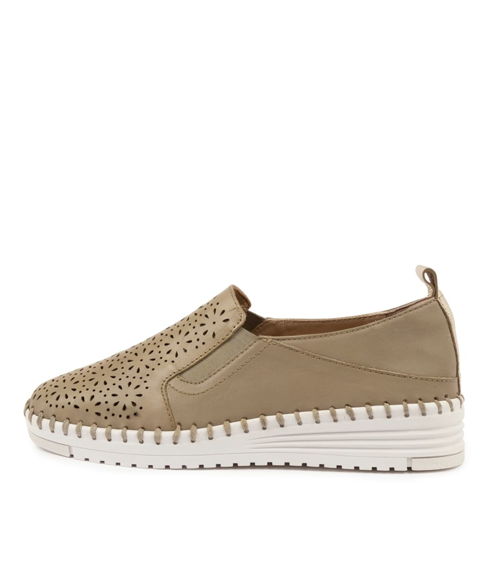 Buy Supersoft Tulip Su Dk Stone Platinum Flats online with free shipping