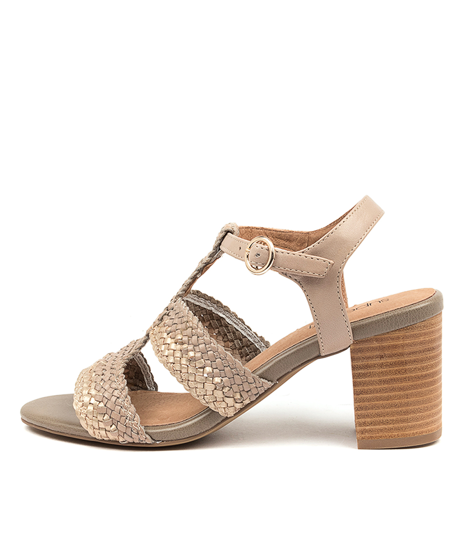Buy Supersoft Nika Su Platinum Pale Taupe Heeled Sandals online with free shipping