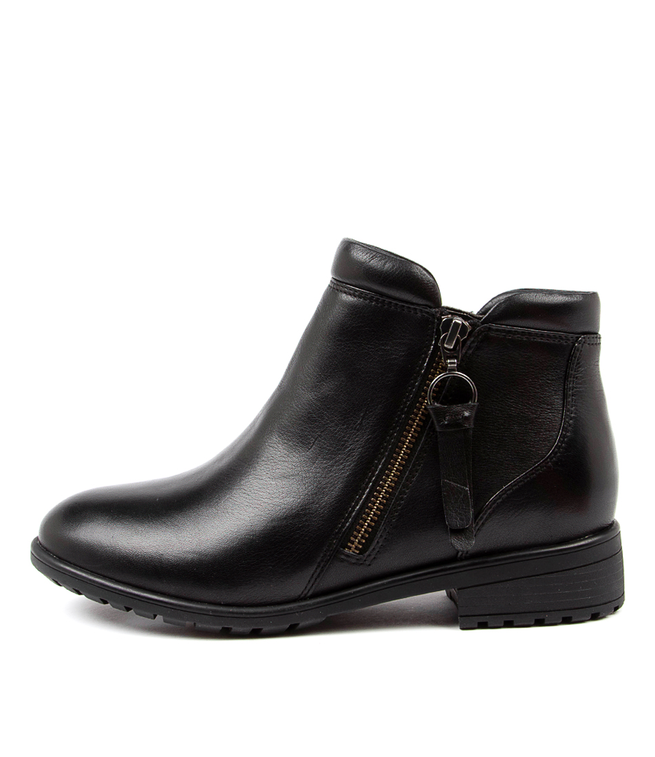 Buy Supersoft Elazer Su Black Ankle Boots online with free shipping