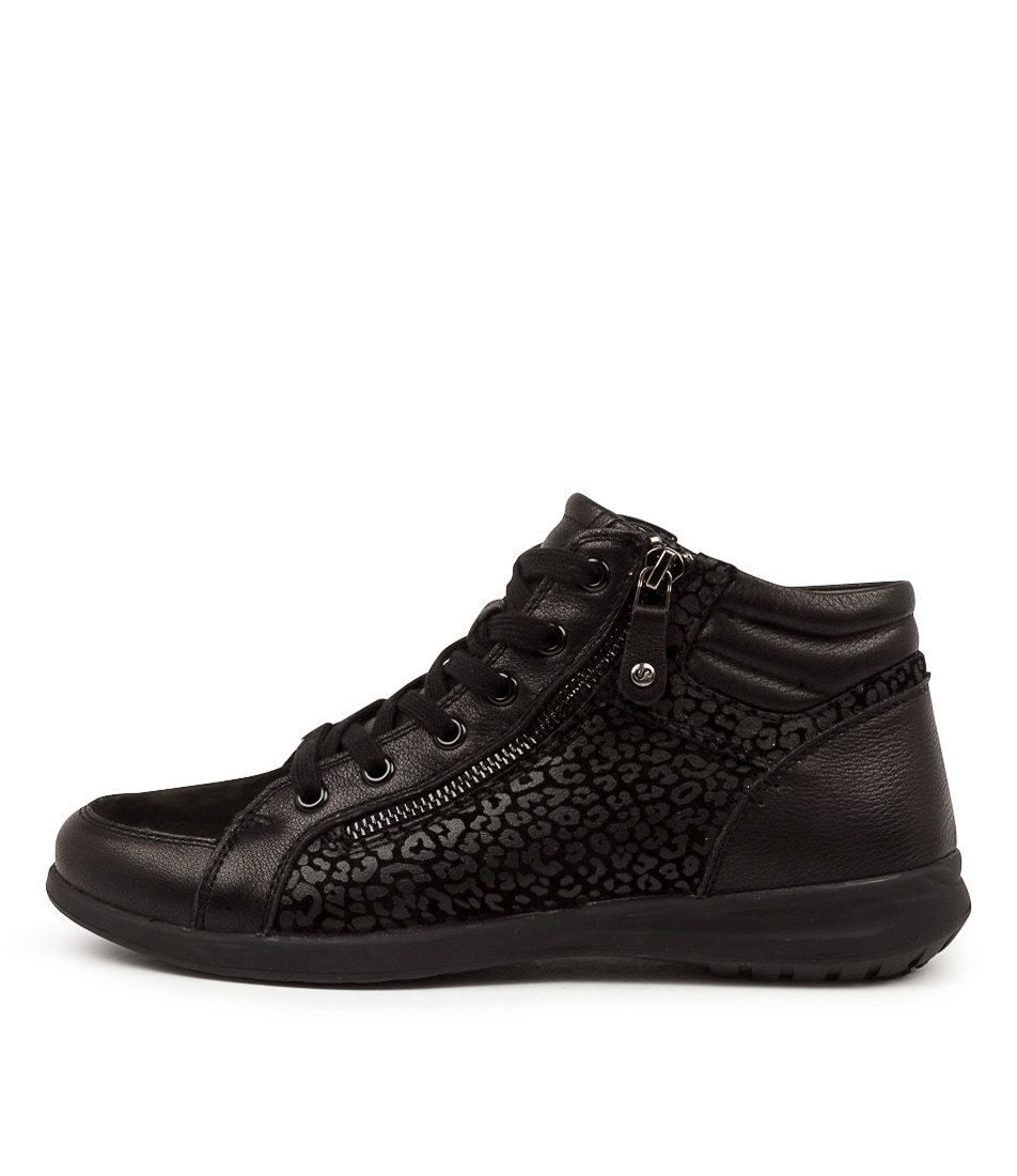 Buy Supersoft Fumina Su Black Black Leopard Sneakers online with free shipping