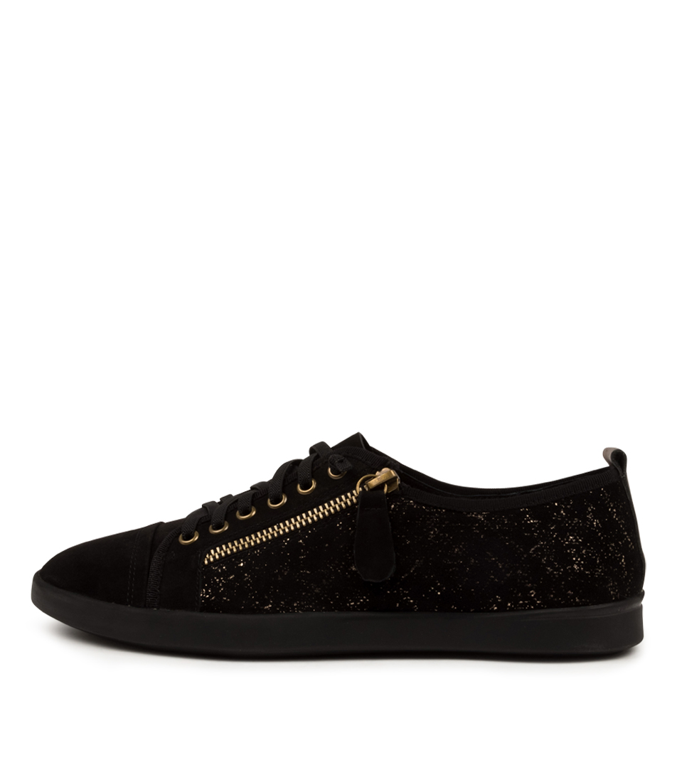 Buy Supersoft Adelaide Su Black Black Metallic Sneakers online with free shipping