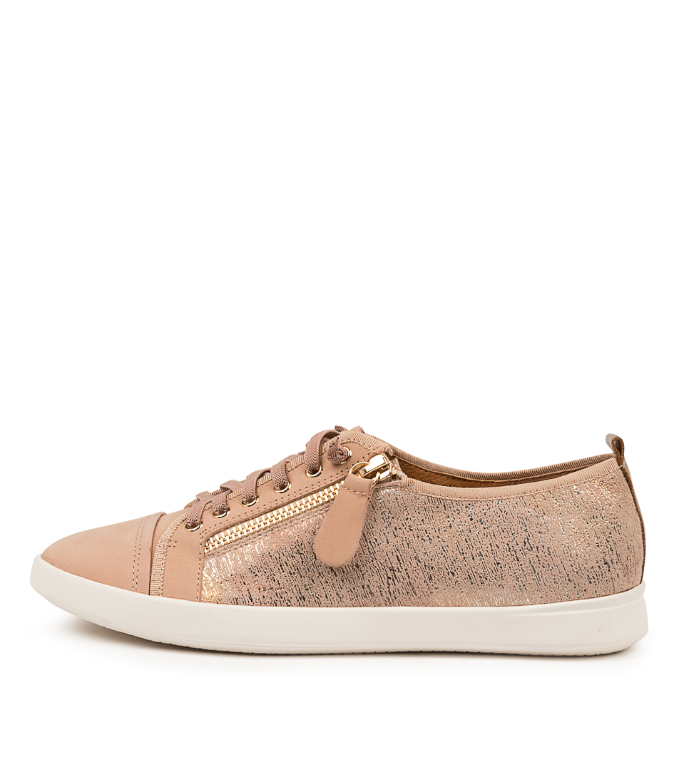 Buy Supersoft Adelaide Su Blush New Nude Metallic Sneakers online with free shipping