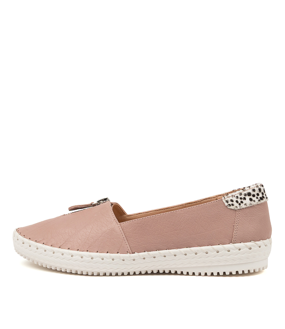 Buy Supersoft Wandie Su New Nude White Spot Flats online with free shipping