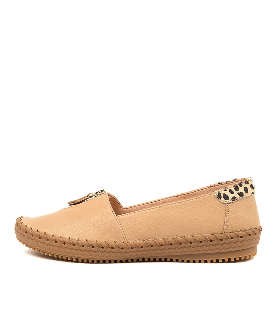 Buy Supersoft Wandie Su Camel Tan Leopard Flats online with free shipping
