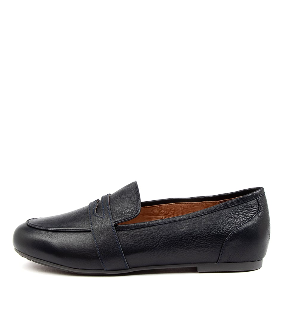 Buy Supersoft Gaston Su Navy Flats online with free shipping