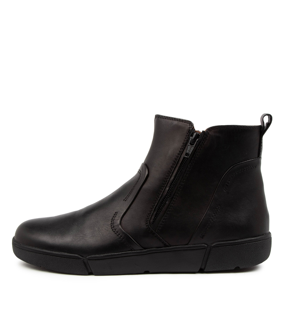 Buy Supersoft Afron Su Black Ankle Boots online with free shipping