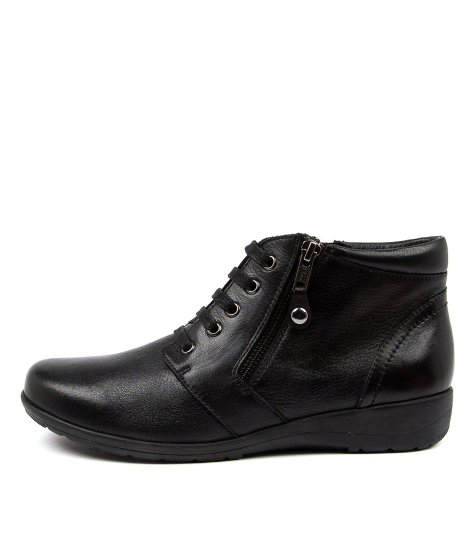 Buy Supersoft Poan Su Black Ankle Boots online with free shipping