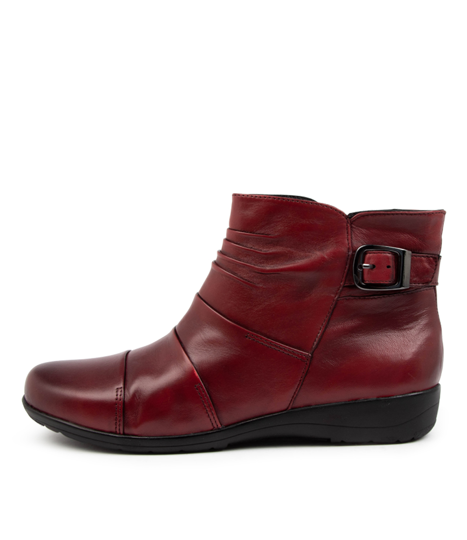 Buy Supersoft Paber Su Deep Crimson Ankle Boots online with free shipping