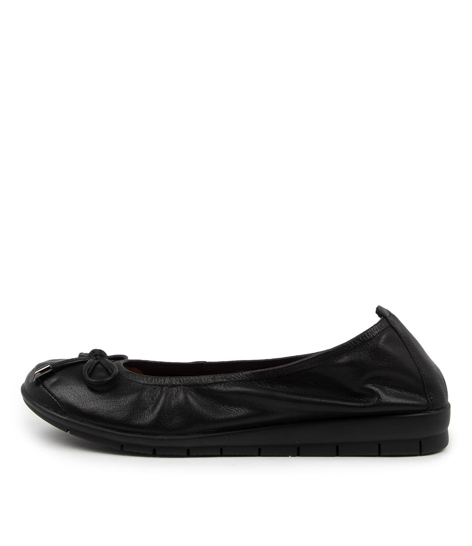 Buy Supersoft Flex3 Su Black Sole Flats online with free shipping