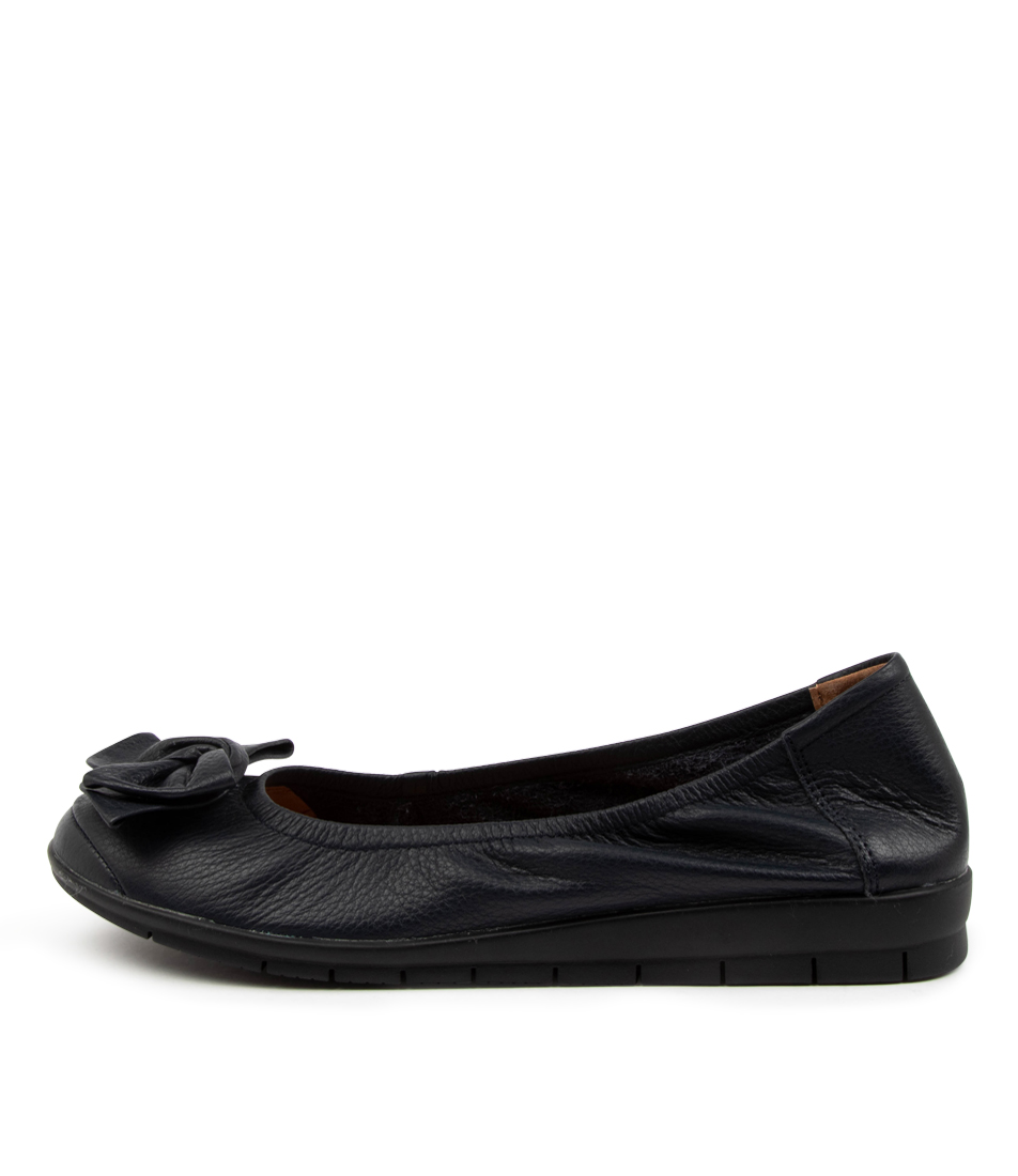 Buy Supersoft Fransisco3 Su Navy Black Sole Flats online with free shipping
