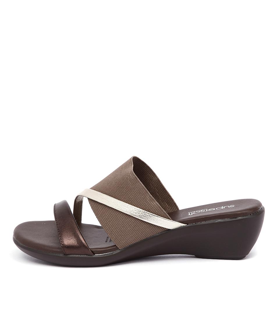 Supersoft Loraine2 Bronze Metallic Heeled Sandals