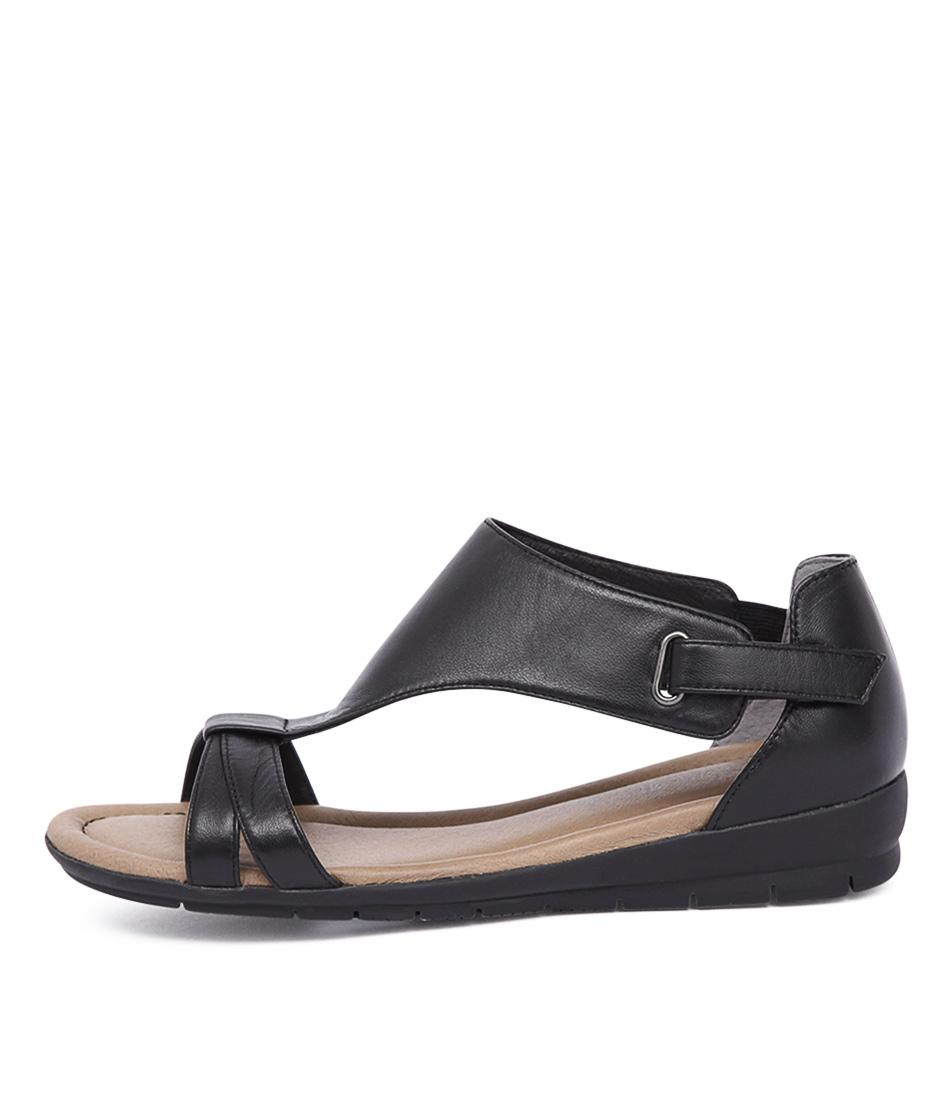 Supersoft Flitter Black Sandals