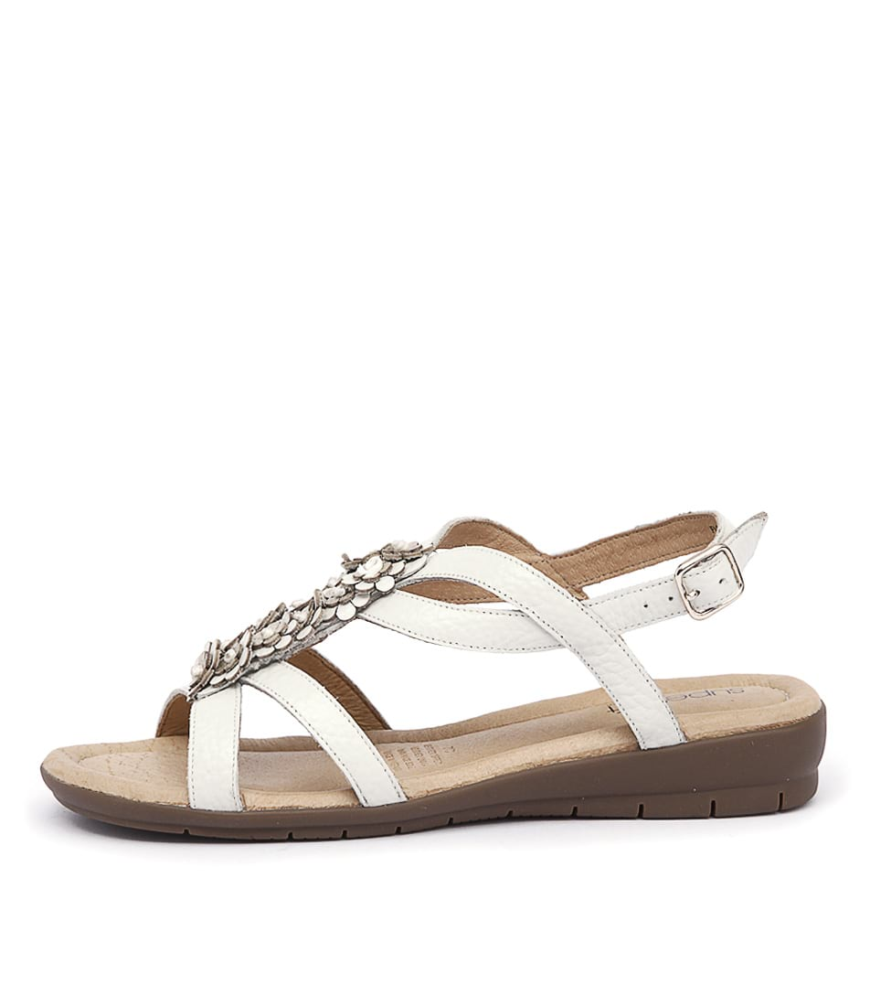 Supersoft Floris White Casual Flat Sandals
