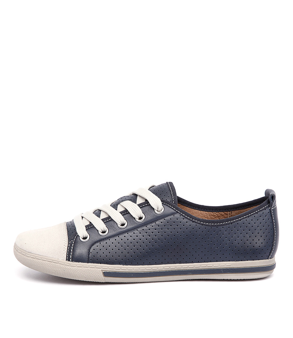 Supersoft Andi Navy Bone Sneakers