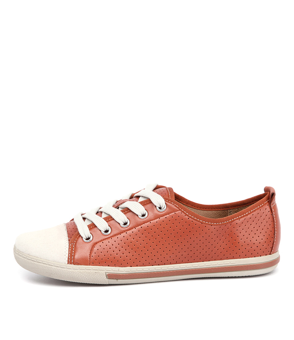 Supersoft Andi Orange Bone Sneakers