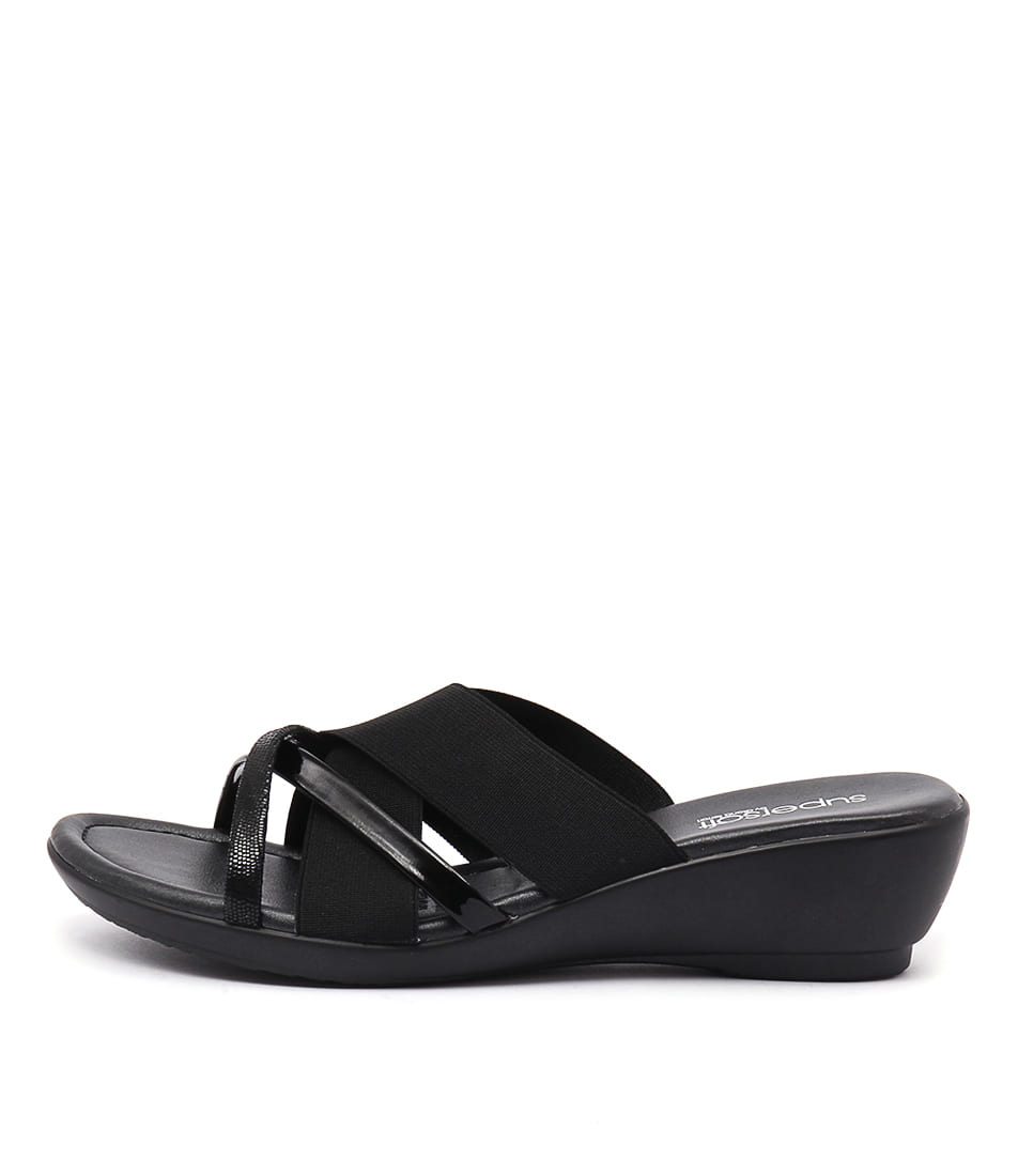 Supersoft Pierre Su Black Heeled Sandals