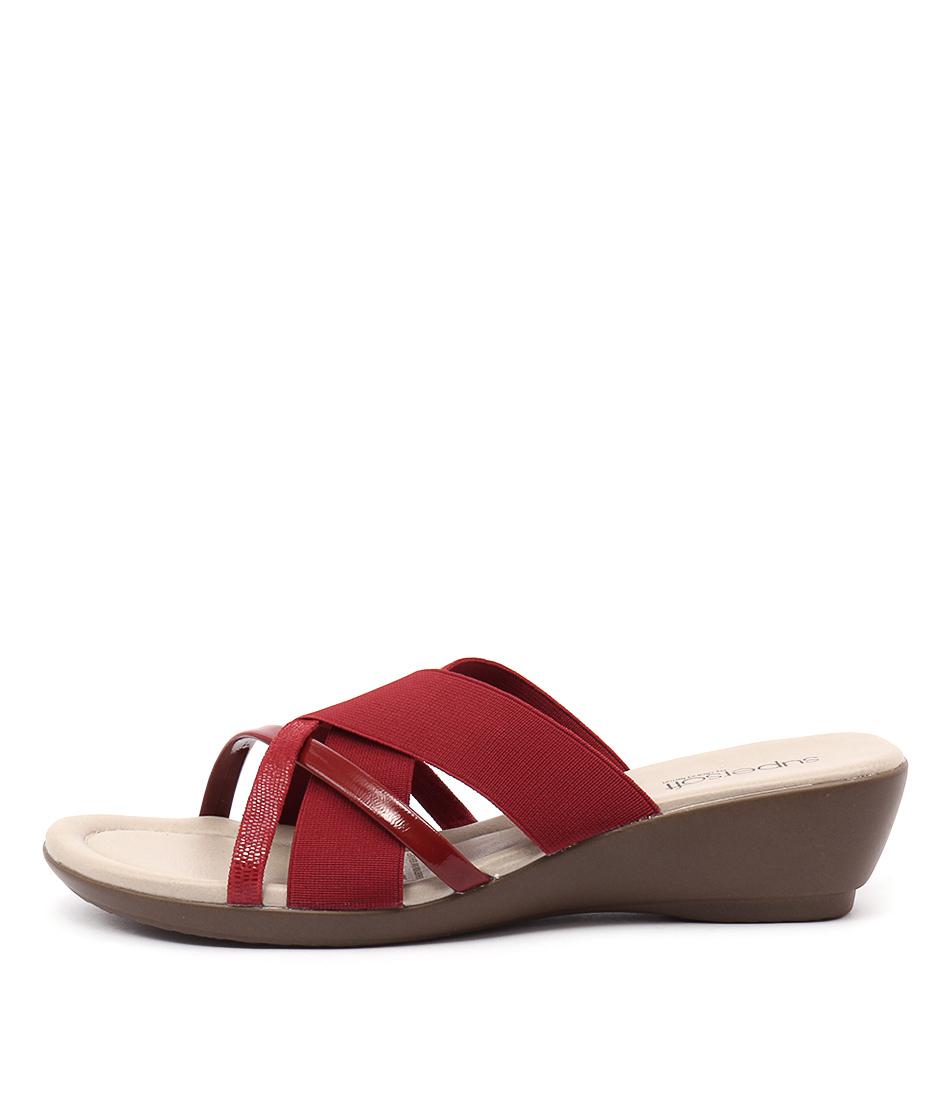 Supersoft Pierre Su Fire Red Heeled Sandals