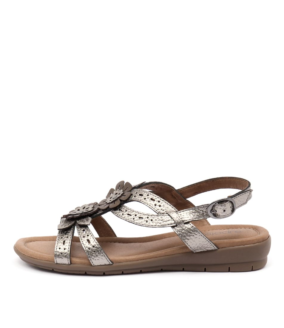 Supersoft Fernley Pewter Bronze Flat Sandals