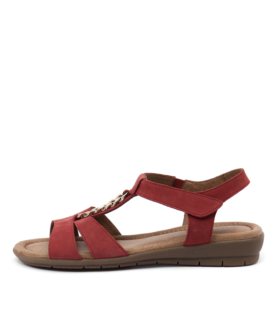 Supersoft Frangelico Dark Red Flat Sandals