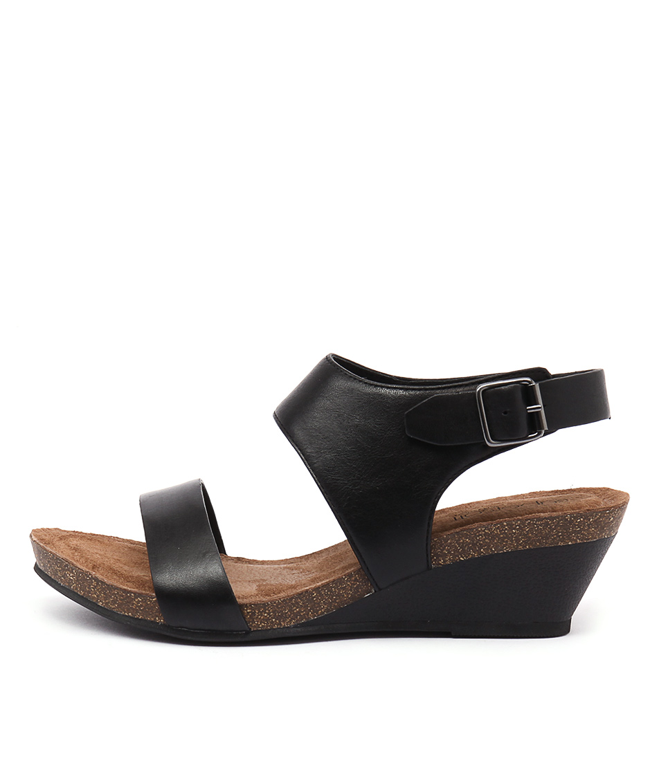 Supersoft Roama Black Heeled Sandals