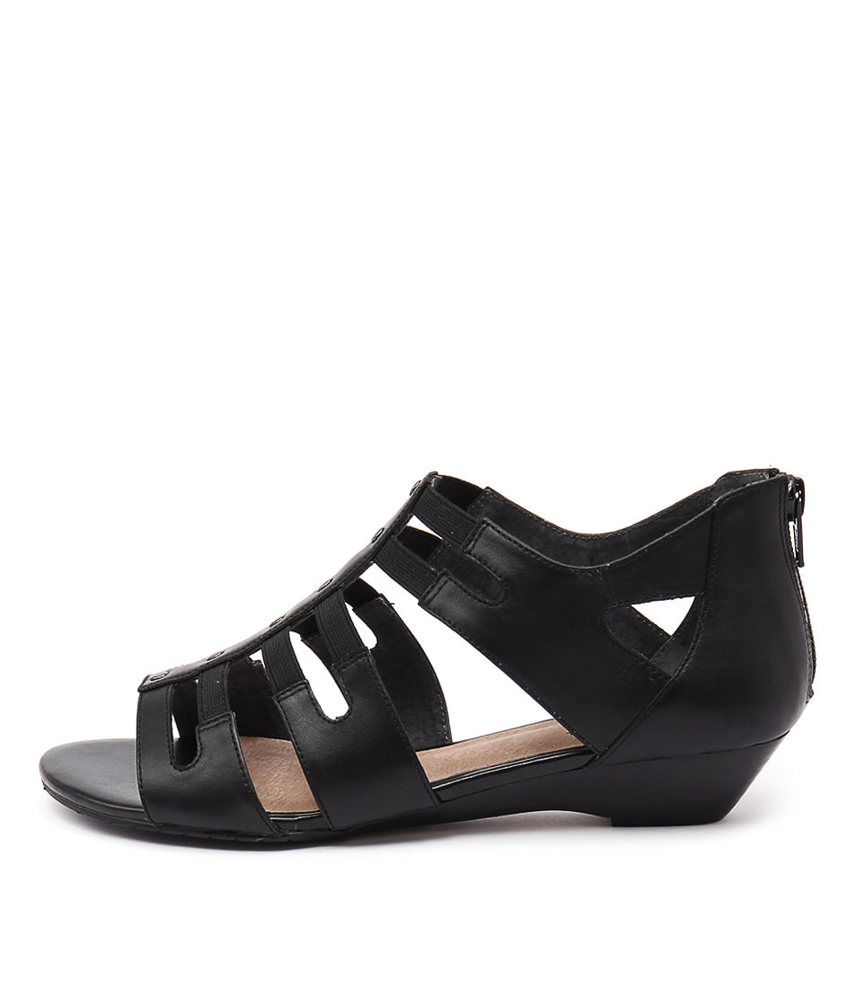 Supersoft Basil Black Sandals