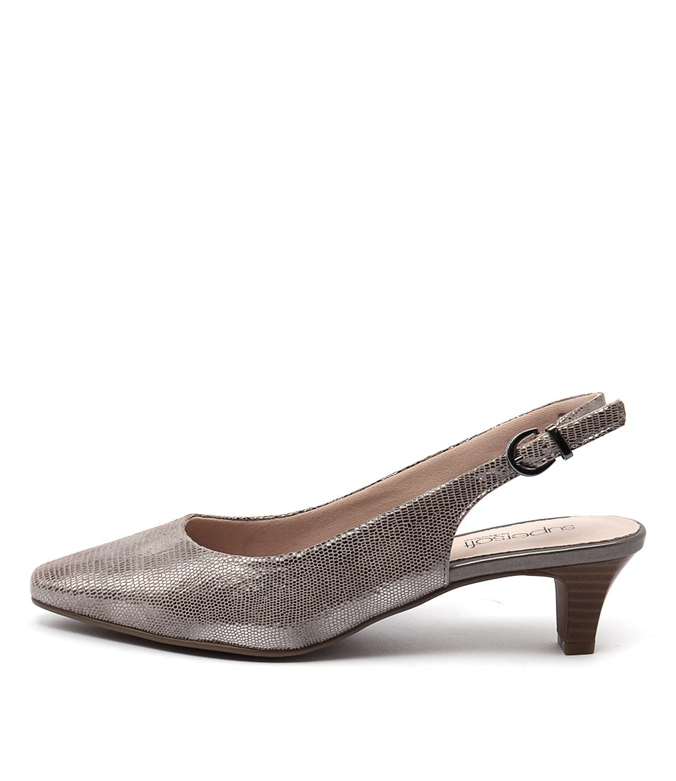 Supersoft Linden2 Silver Multi Heeled Shoes