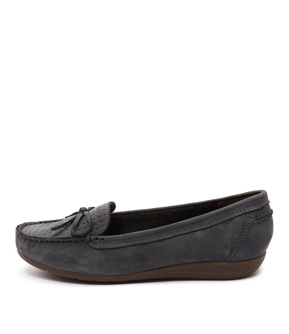 Supersoft Fenwick Blue Flat Shoes